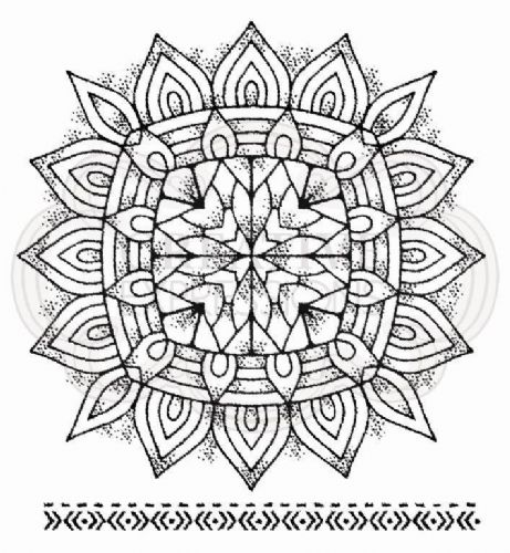 Mandala Two Clear Woodware Stamp (FRS078)